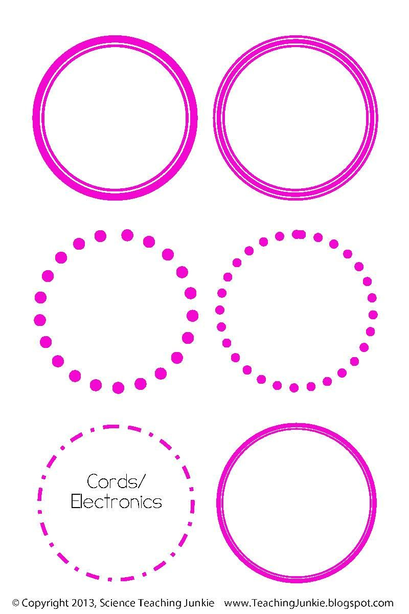 Science Teaching Junkie: Free Editable Round Labels | Organization - Free Editable Printable Labels