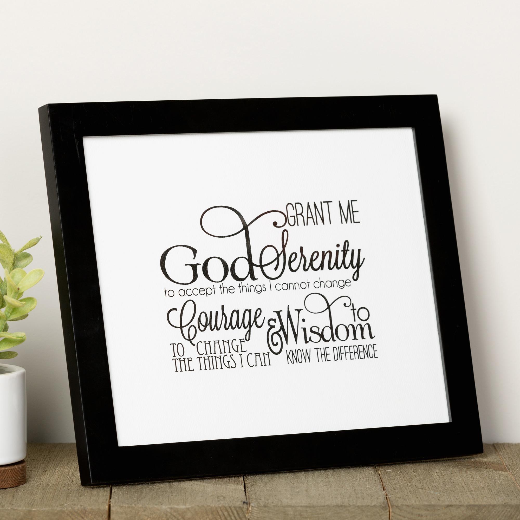 Scripted Serenity Prayer Framed Print   The Catholic Company - Free Printable Serenity Prayer