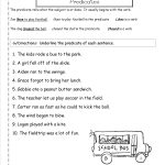 Second Grade Sentences Worksheets, Ccss 2.l.1.f Worksheets.   Free Printable Subject Predicate Worksheets 2Nd Grade