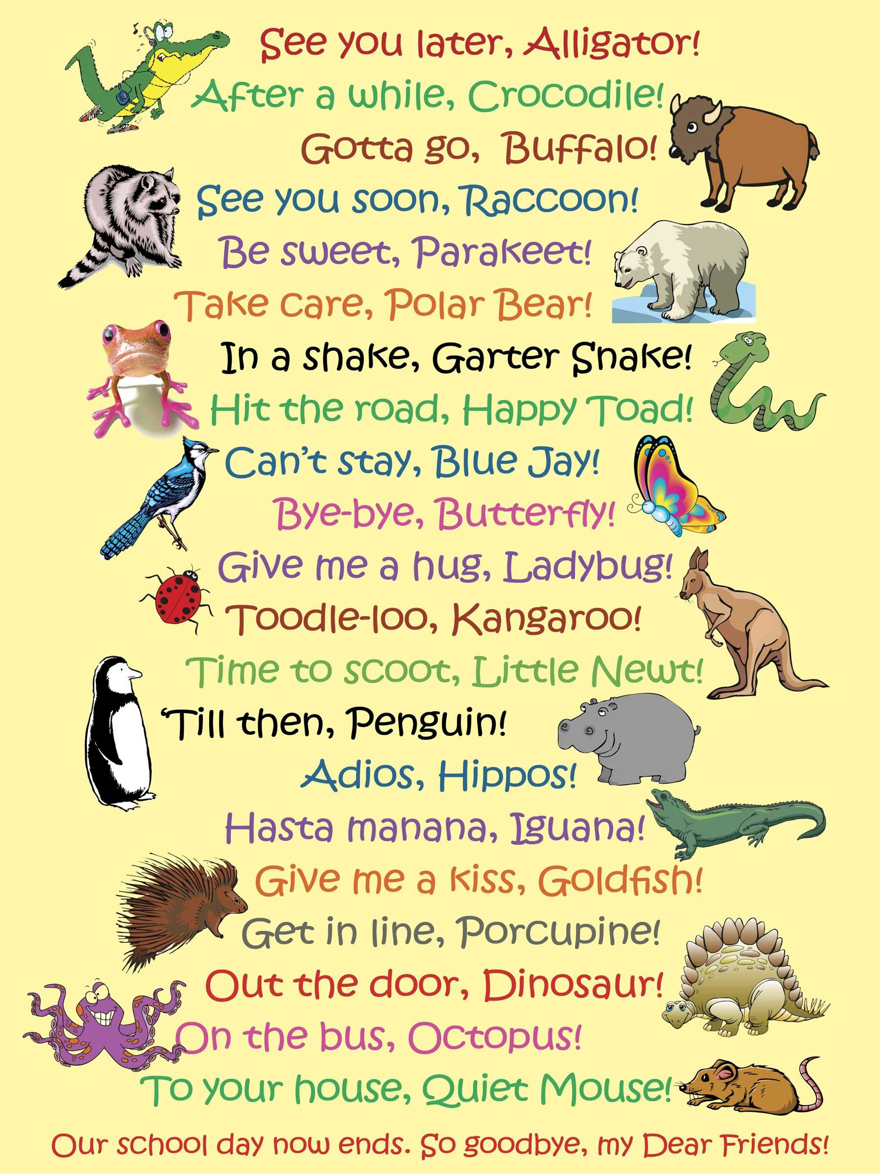 See You Later Alligator! Printable At 30% Size To Fit One Sheet - See You Later Alligator Free Printable