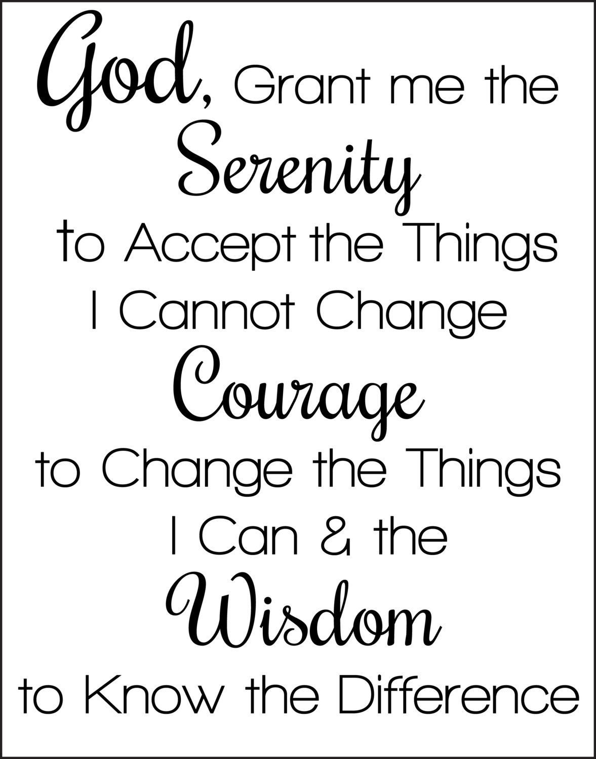 photo regarding Free Printable Serenity Prayer called Serenity Prayer - Small Edition Lovesvg - Absolutely free Printable