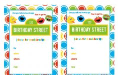 Sesame Street Printable Invitation Diy Fill In The Blank Free – Free Printable Cookie Monster Birthday Invitations