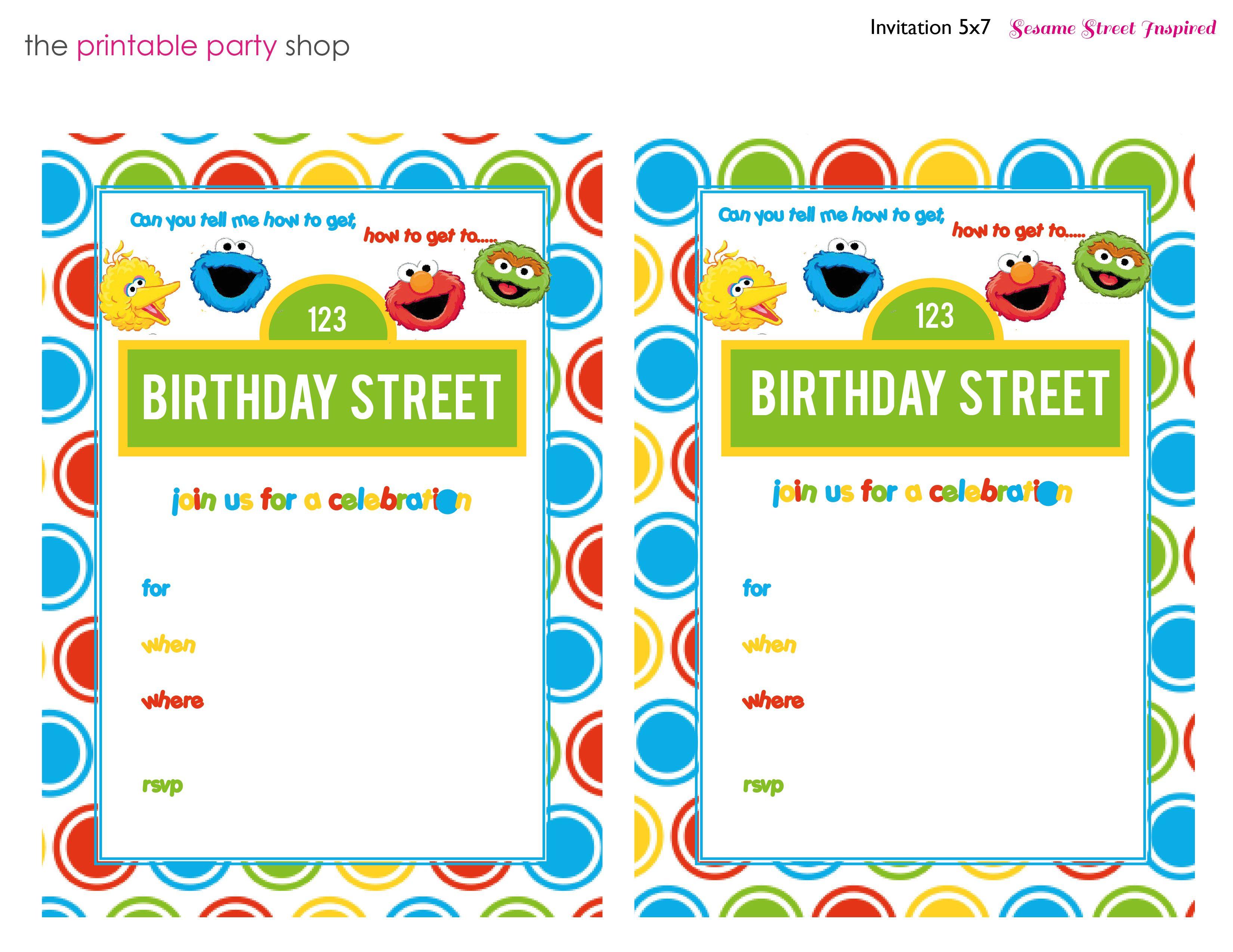 Sesame Street Printable Invitation Diy Fill In The Blank Free - Free Printable Cookie Monster Birthday Invitations