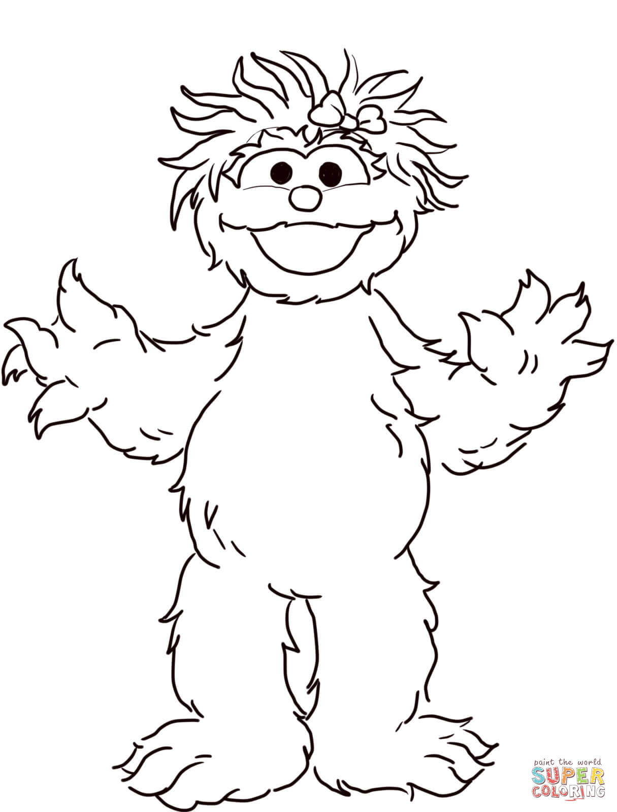 Sesame Street Rosita Coloring Page | Free Printable Coloring Pages - Free Printable Sesame Street Coloring Pages