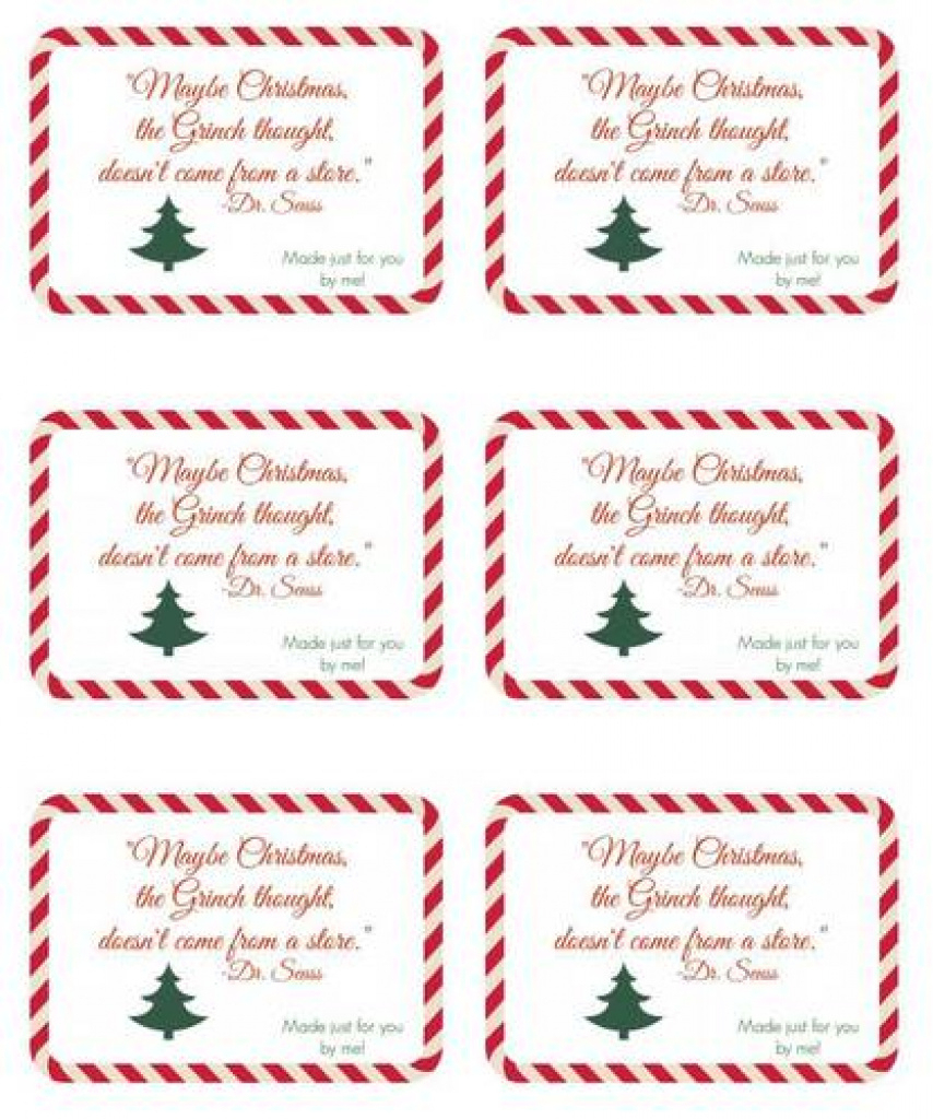 Seuss Handmade Gift Christmas Label Design - Label Templates - Ol150 - Free Printable Christmas Bookplates