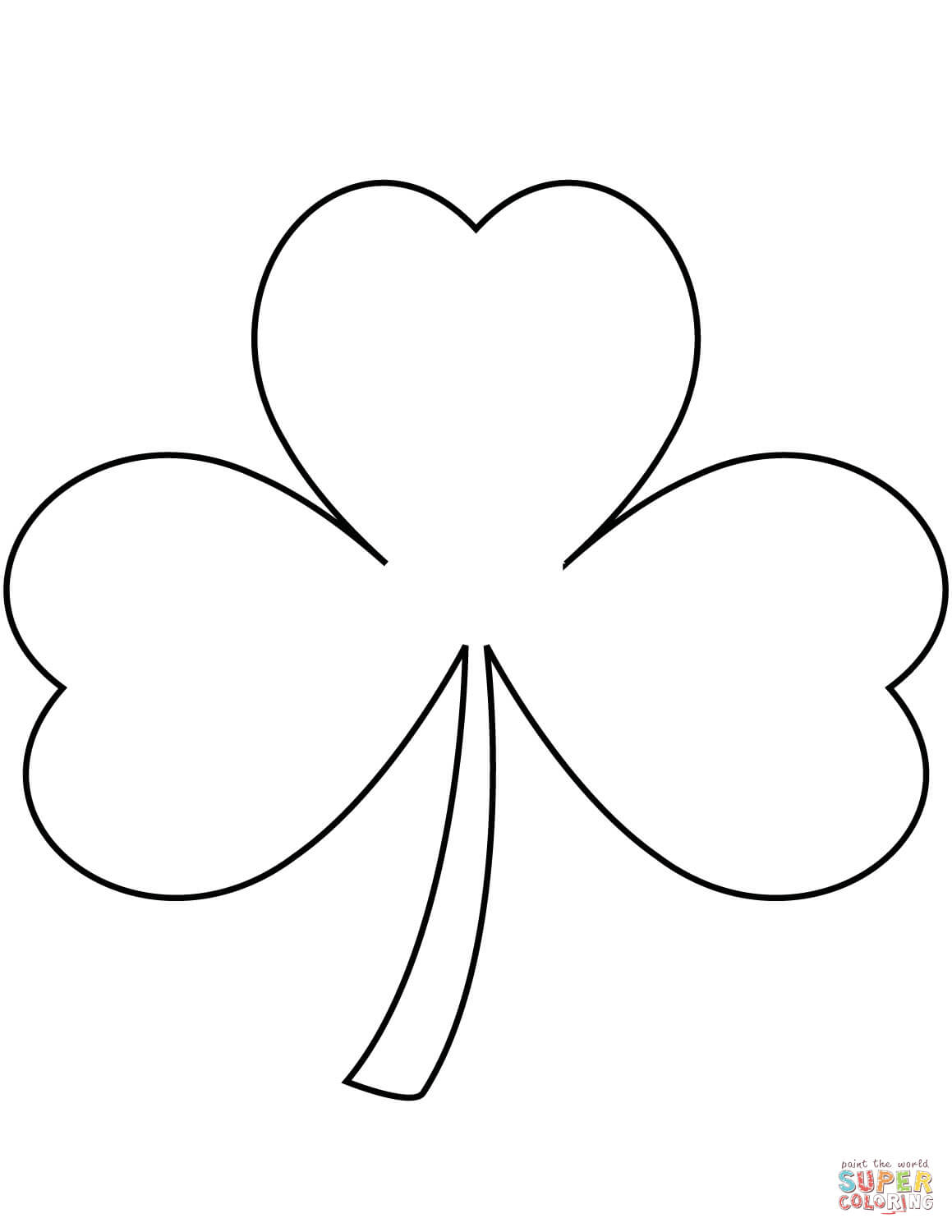 Shamrock Coloring Page | Free Printable Coloring Pages - Shamrock Template Free Printable