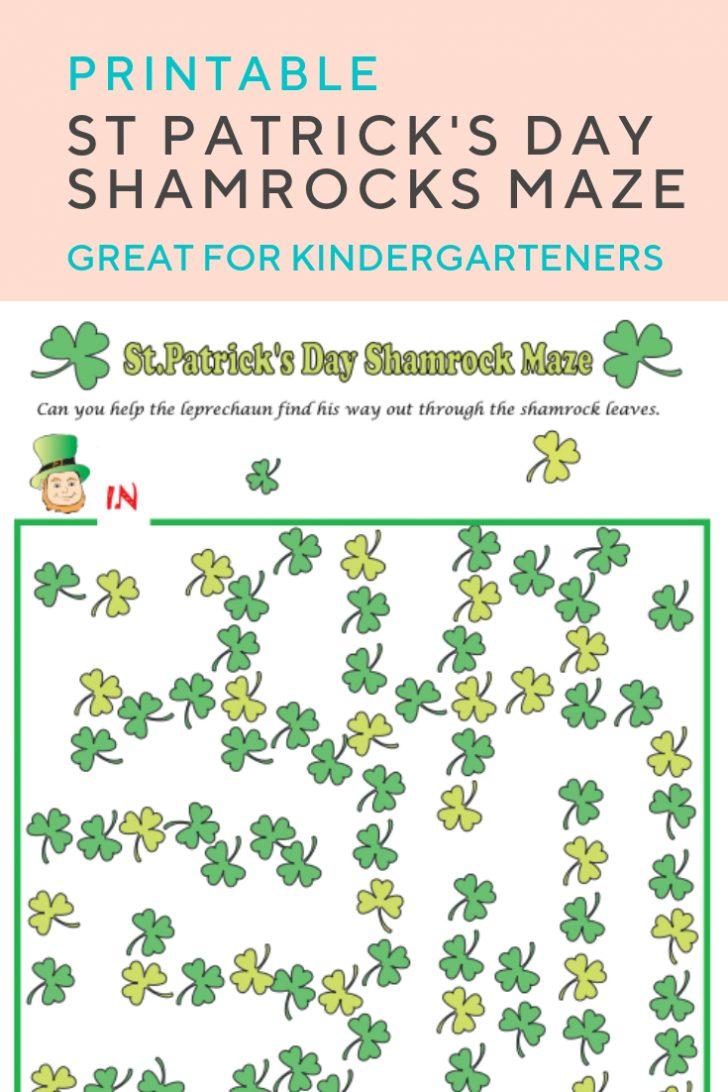 Free Printable St Patrick's Day Mazes
