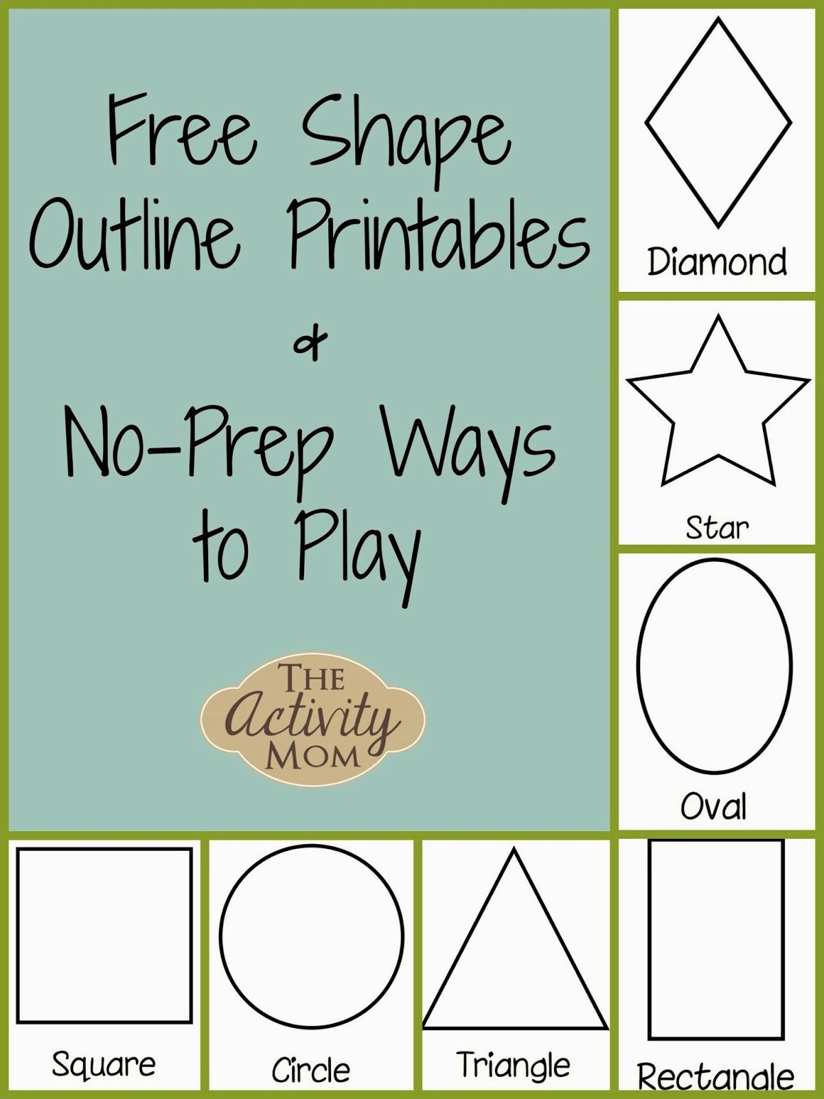 Shape Activities For Toddlers (Printable | Kid Blogger Network - Free Printable Early Childhood Activities