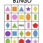 Shape Bingo Card   Free Printable   I'm Going To Use This To Teach   Free Printable Shapes