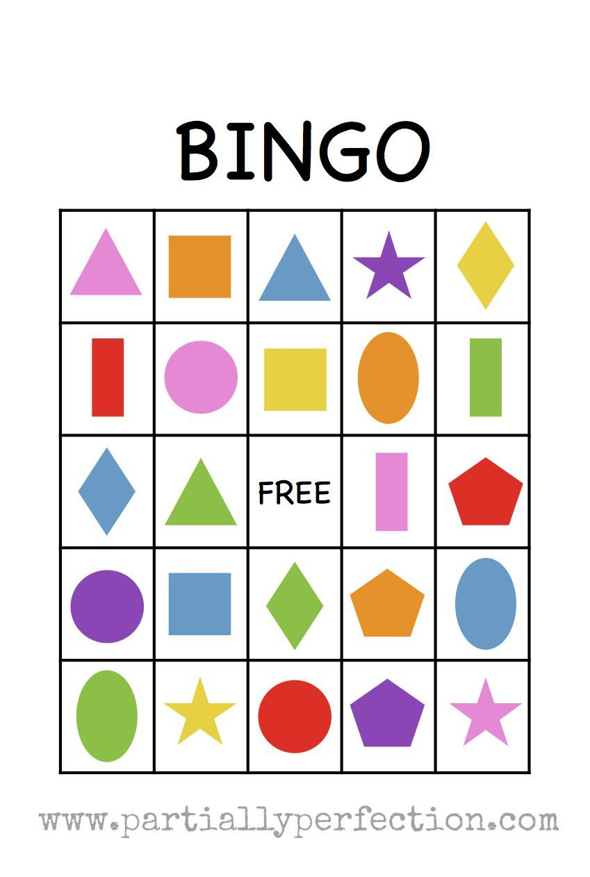 Shape Bingo Card - Free Printable - I'm Going To Use This To Teach - Free Printable Shapes