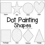 Shapes Dot Painting {Free Printable}   The Resourceful Mama   Free Printable Shapes