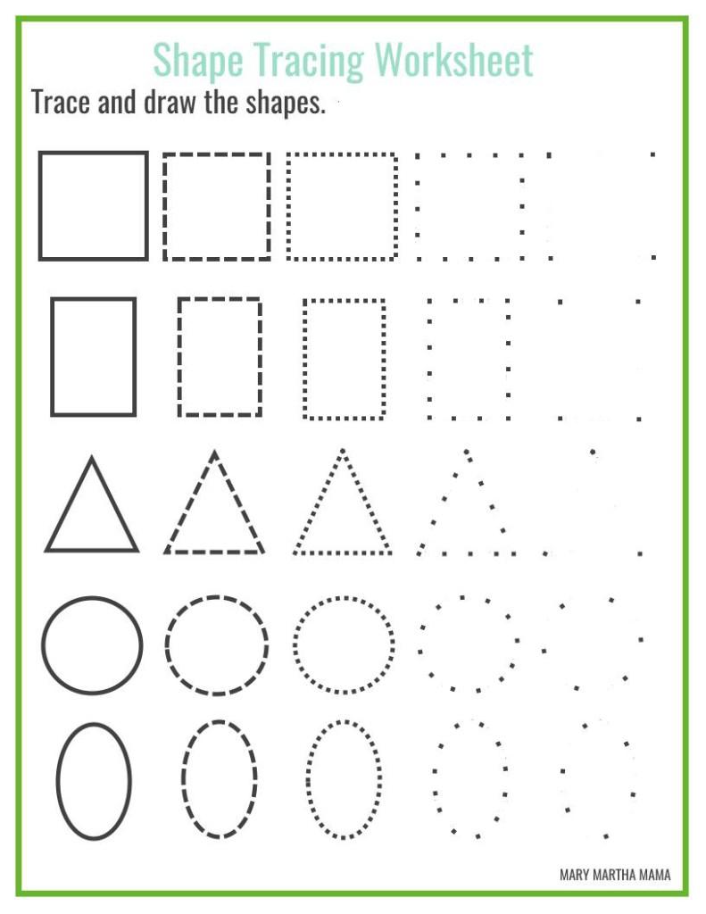 Shapes Worksheets For Preschool [Free Printables] – Mary Martha Mama - Free Printable Shapes