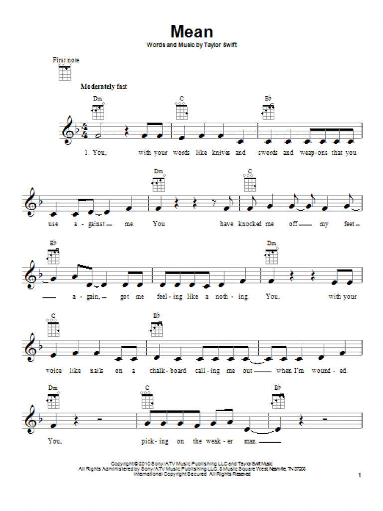 Sheet Music Digital Files To Print - Licensed Taylor Swift Digital - Taylor Swift Mine Piano Sheet Music Free Printable