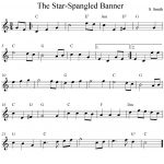 Sheet Music Violin | The Star Spangled Banner, Free Easy Violin   Free Printable Piano Sheet Music For The Star Spangled Banner
