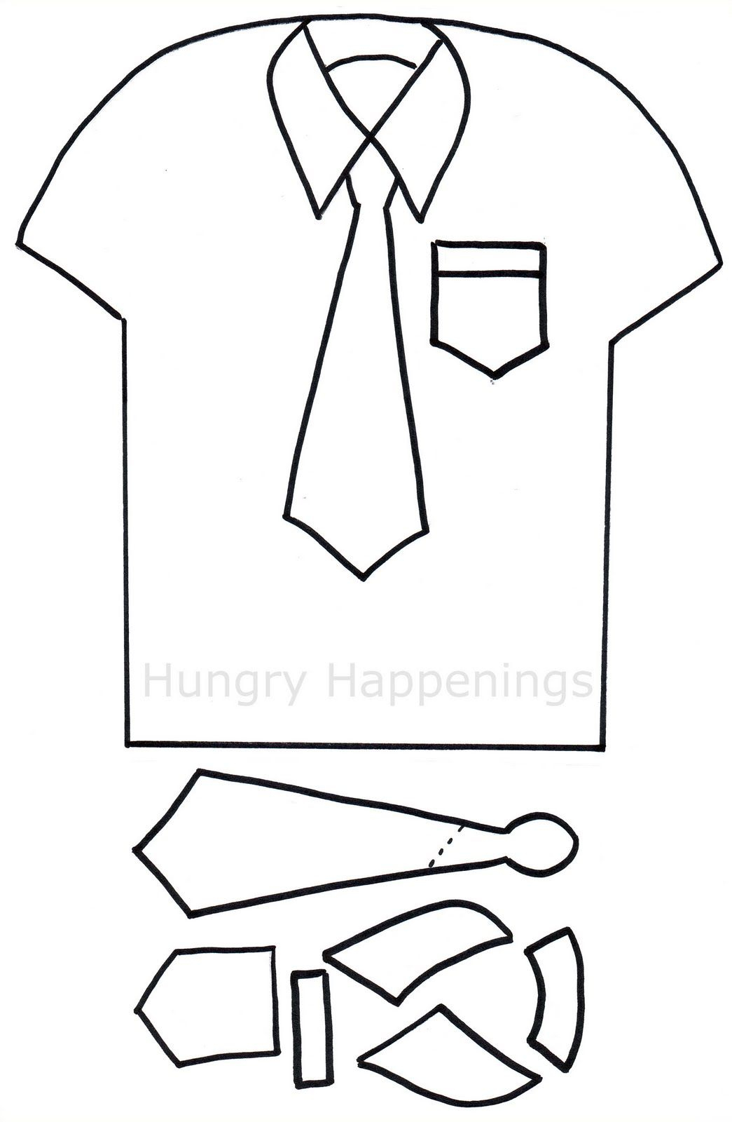 Shirt And Tie Pizza - Hungry Happenings Father's Day | Craft Ideas - Free Printable Tie Template