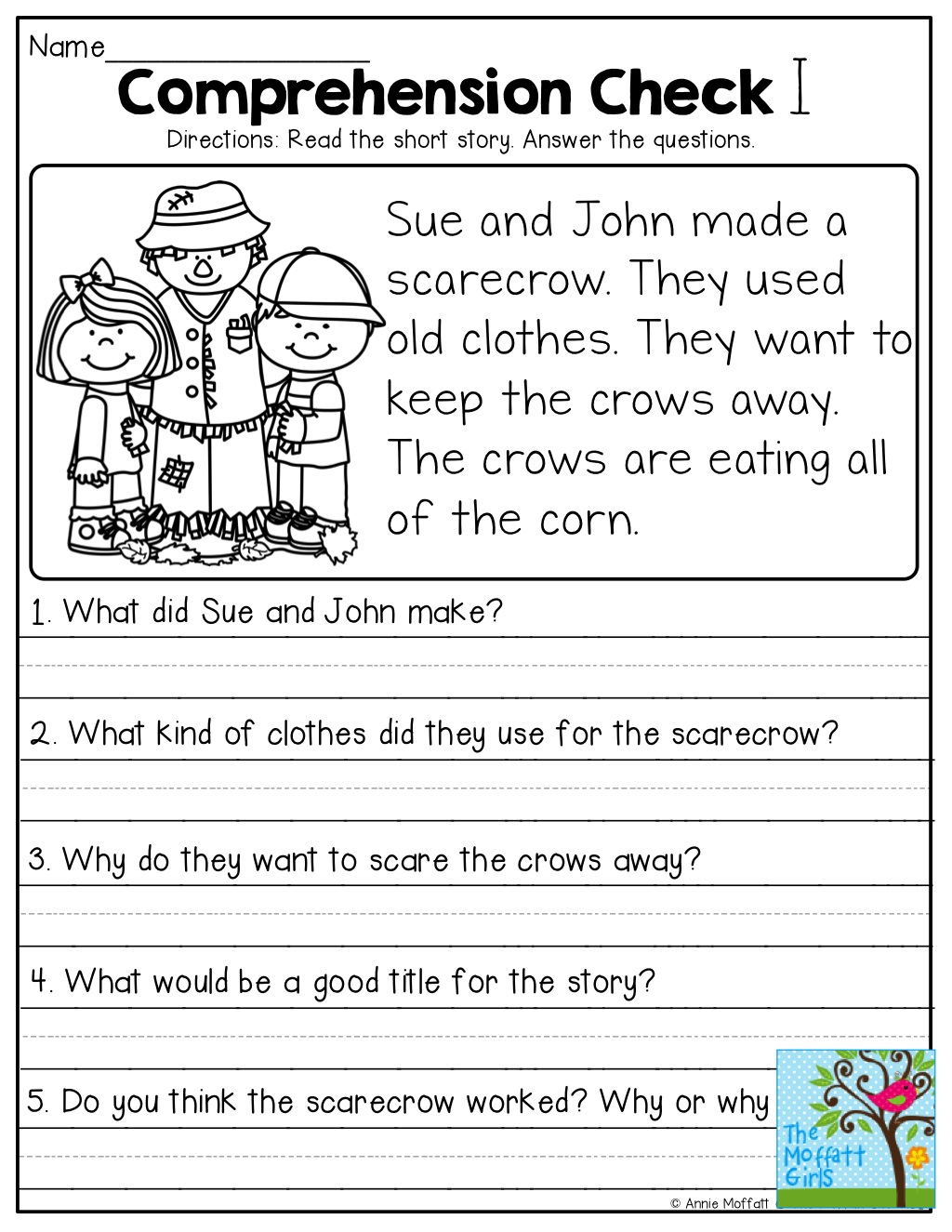 Short Stories With Comprehension Questions! | Jassiah | Pinterest - Free Printable Short Stories With Comprehension Questions