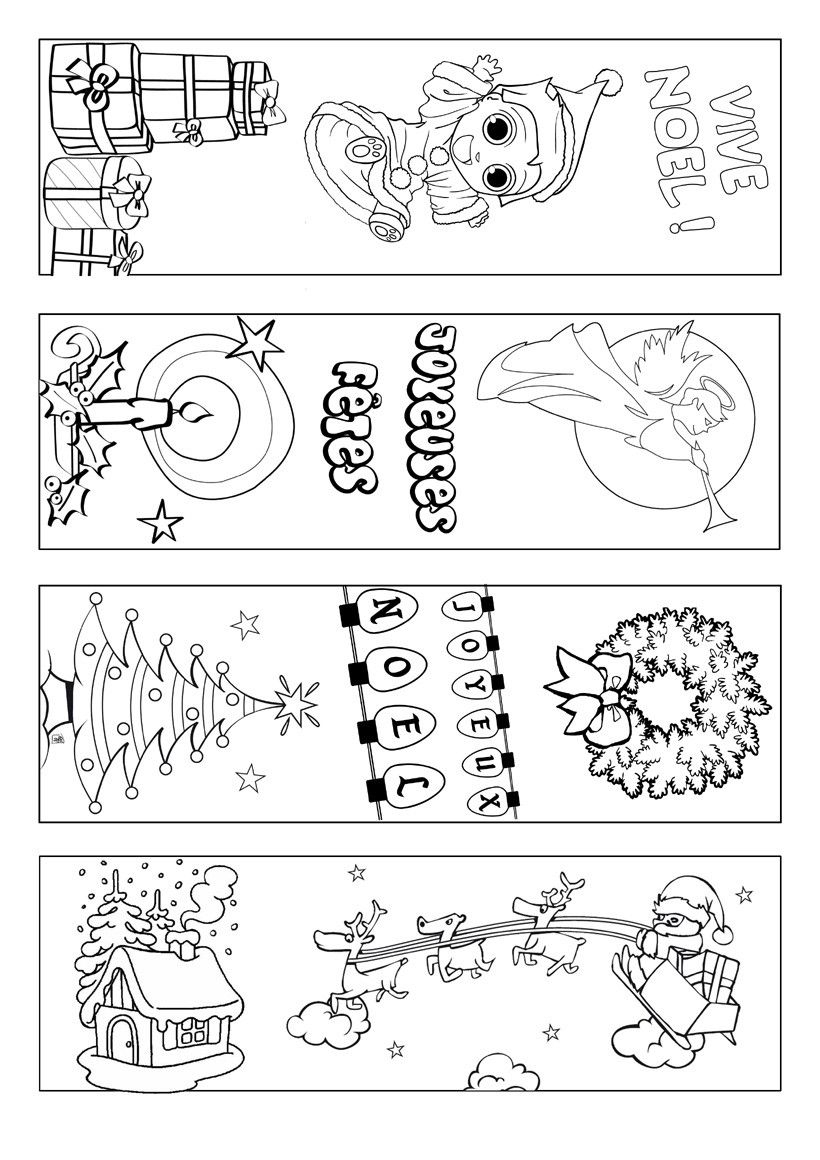 Signets-Noel-A-Colorier | Coloring Page | Pinterest | Bookmarks Kids - Free Printable Bookmarks For Christmas