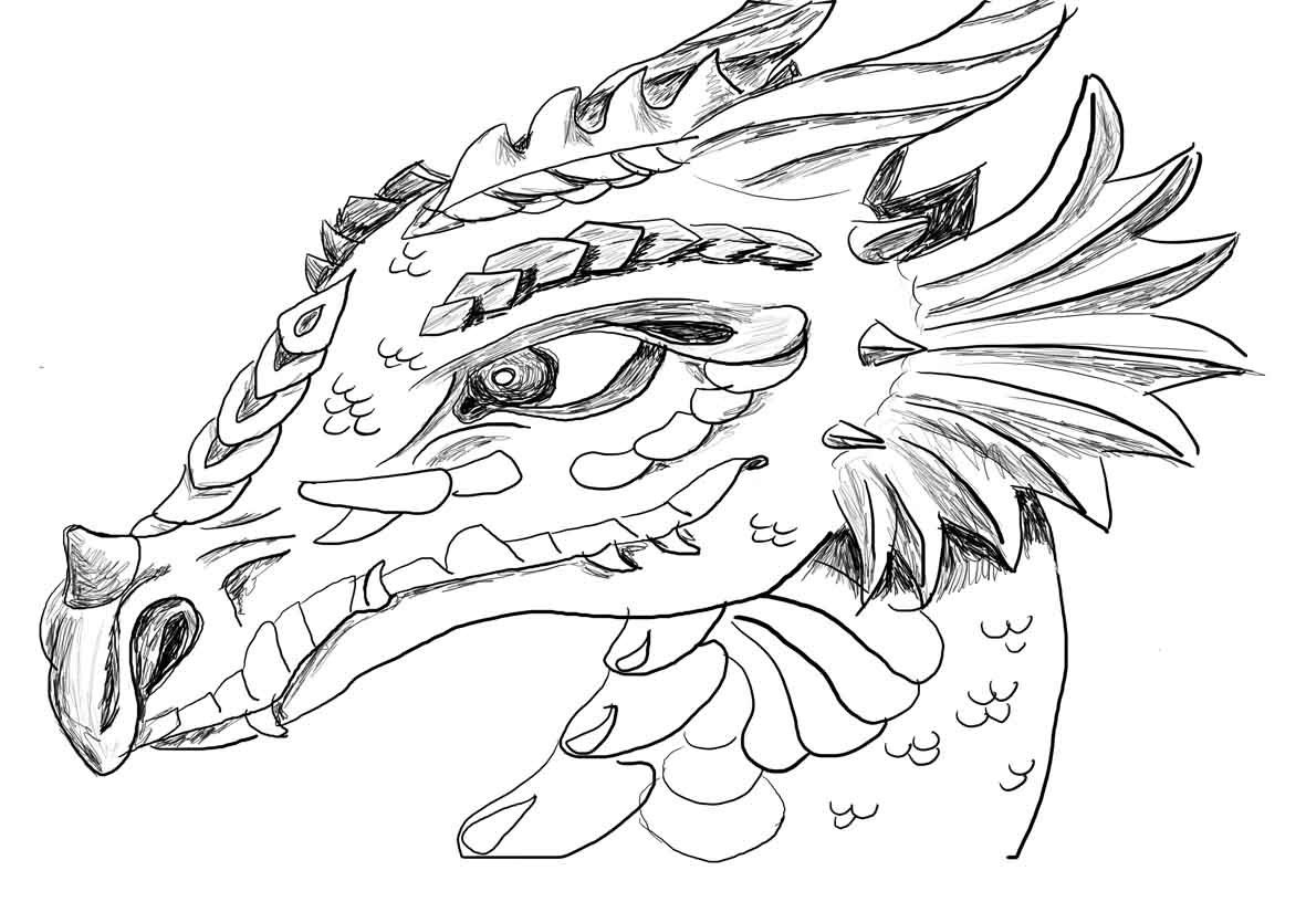 Simple Chinese Dragon Coloring Pages | Printable Coloring Page For Kids - Free Printable Chinese Dragon Coloring Pages