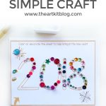 Simple New Year's Craft For Kids {Free Printable}   The Art Kit   Free Printable Crafts