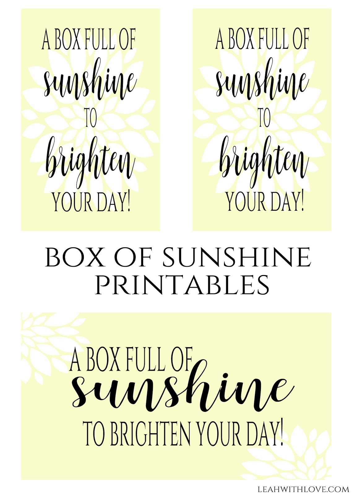 Simply Made With Love: Box Of Sunshine Gift - Box Of Sunshine Free Printable