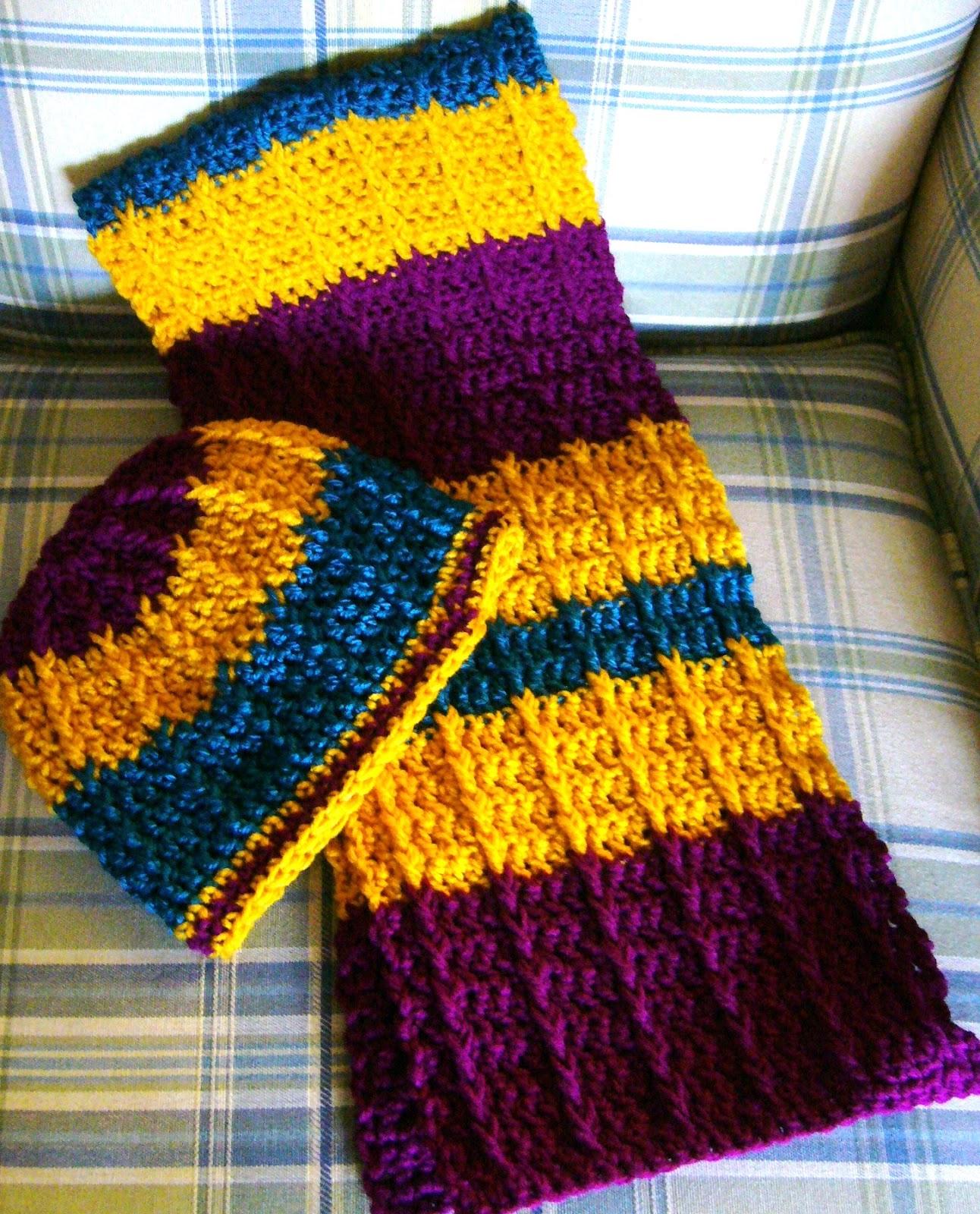 Simply Shoeboxes: Double Crochet Front Post Crochet Scarf For Occ - Free Printable Crochet Scarf Patterns