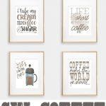 Six Coffee Printables | Printables | Pinterest | Coffee Bar Home   Free Printable Coffee Bar Signs