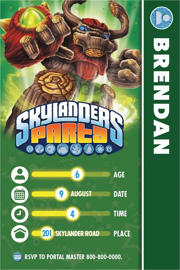 Free Printable Skylander Invitations