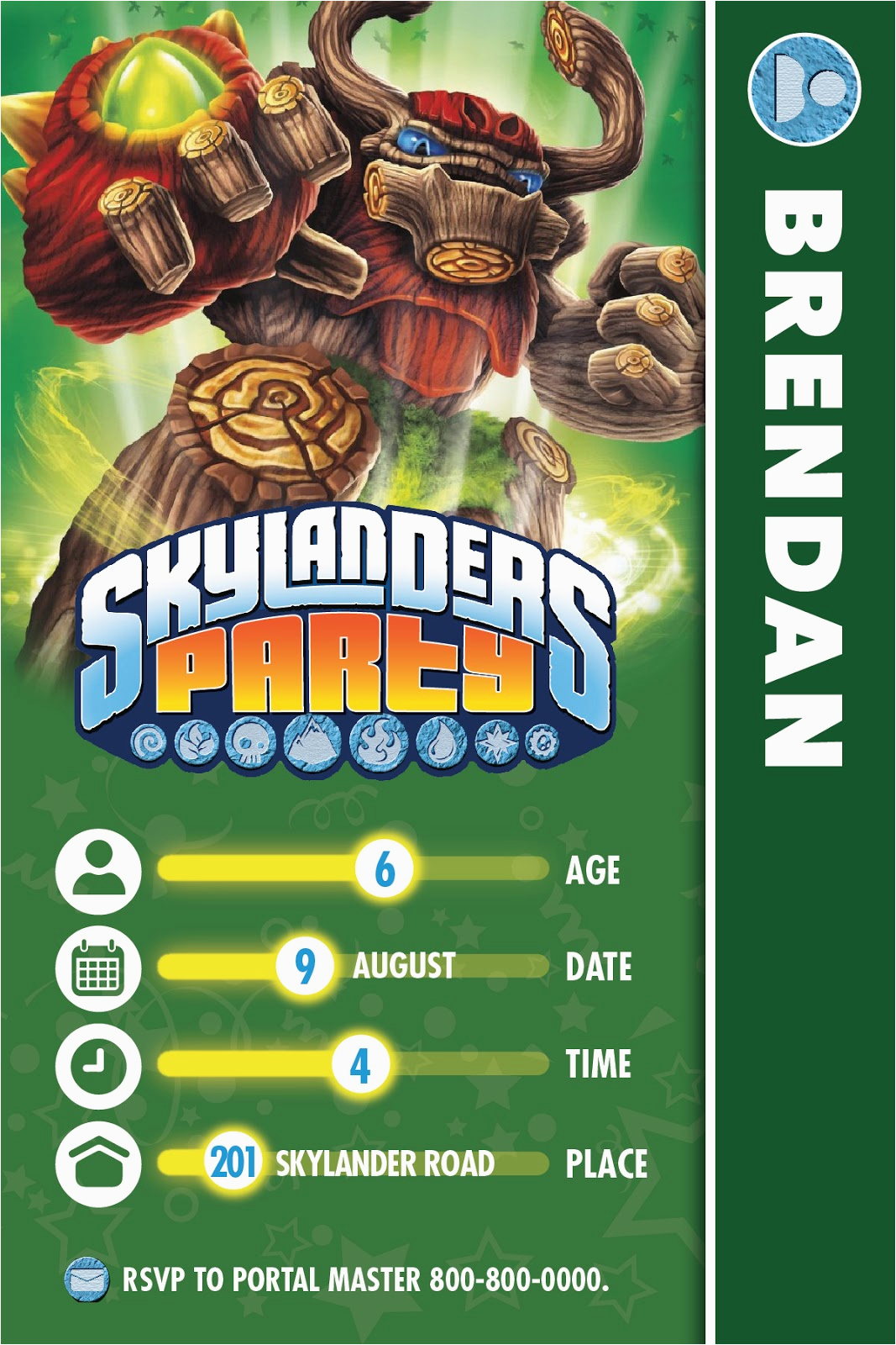 Skylander Birthday Invites | Birthdaybuzz - Free Printable Skylander Invitations
