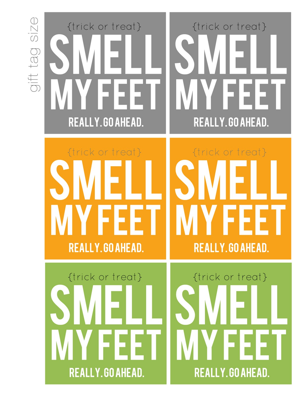 Smell My Feet! (Free Printable / Halloween Gift) - My Sister's - Free Printable Halloween Homework Pass