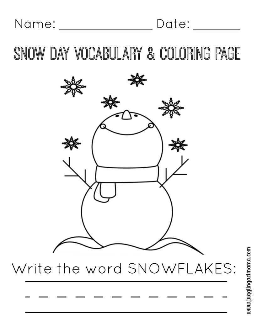 Snow Day Printable Pack | Free Printables | Pinterest | Printables - Free Printable Craft Activities