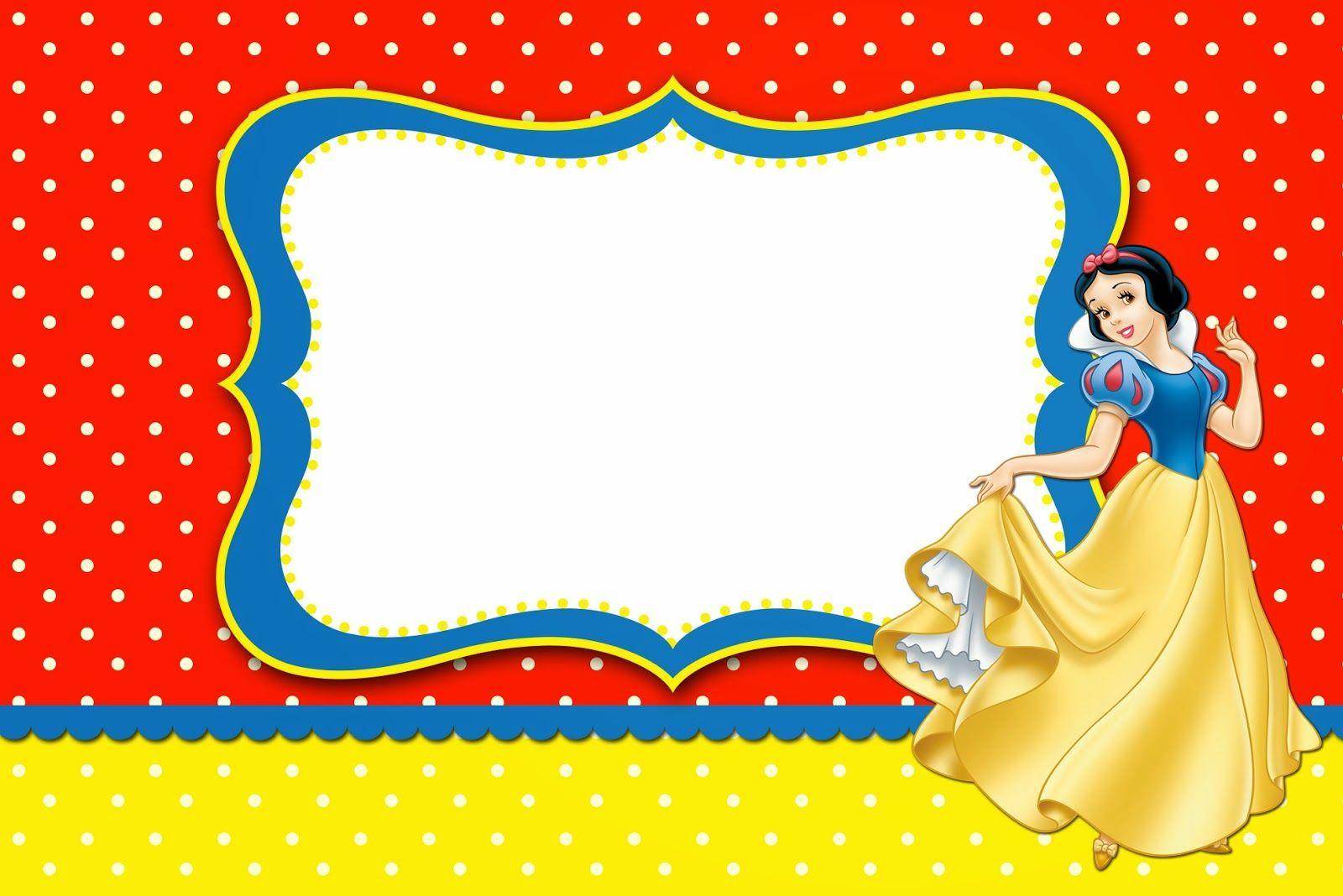 Snow White: Free Printable Invitations, Labels Or Cards. | Snow - Snow White Invitations Free Printable
