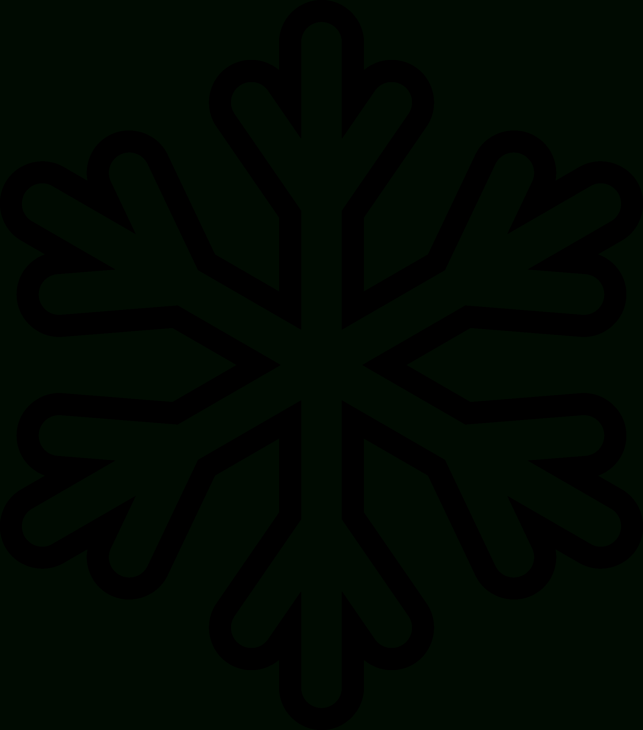 Snowflake Graphic Black And White Library Free Printable - Rr - Free Printable Snowflake Patterns