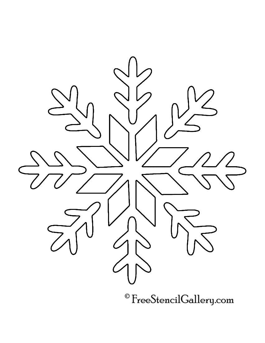 Snowflake Stencil 09 | Cards | Snowflake Stencil, Christmas Stencils - Free Printable Snowflakes