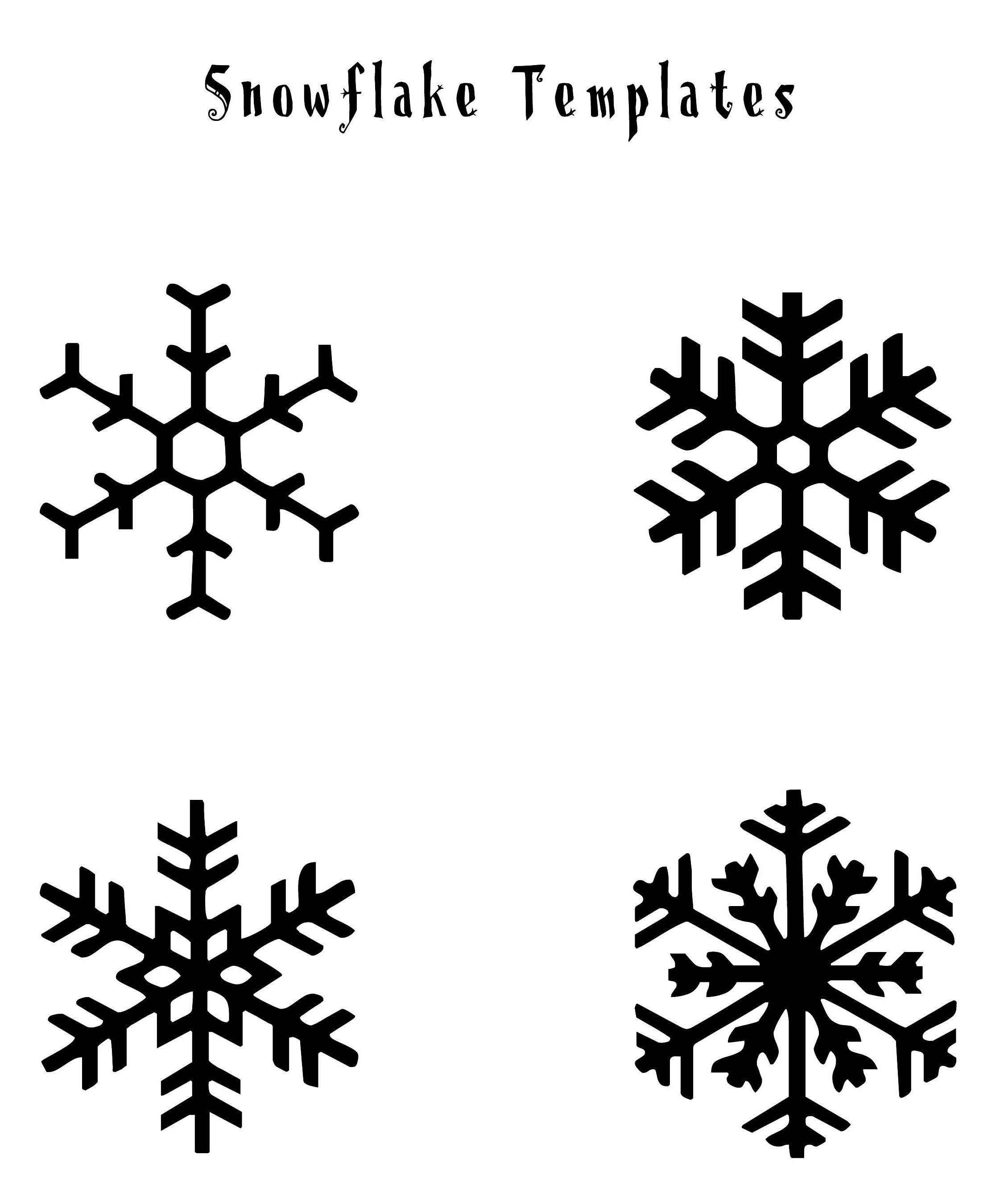 Snowflakes | Christmas | Snowflake Template, Snowflakes Art, Simple - Free Printable Snowflakes