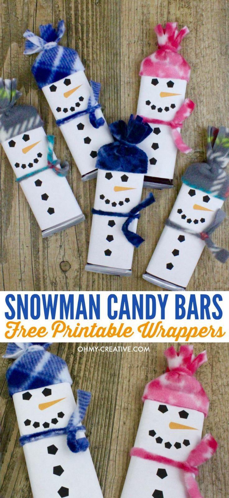 Snowman Free Printable Candy Bar Wrapper Template | Christmas Ideas - Free Printable Christmas Candy Bar Wrappers