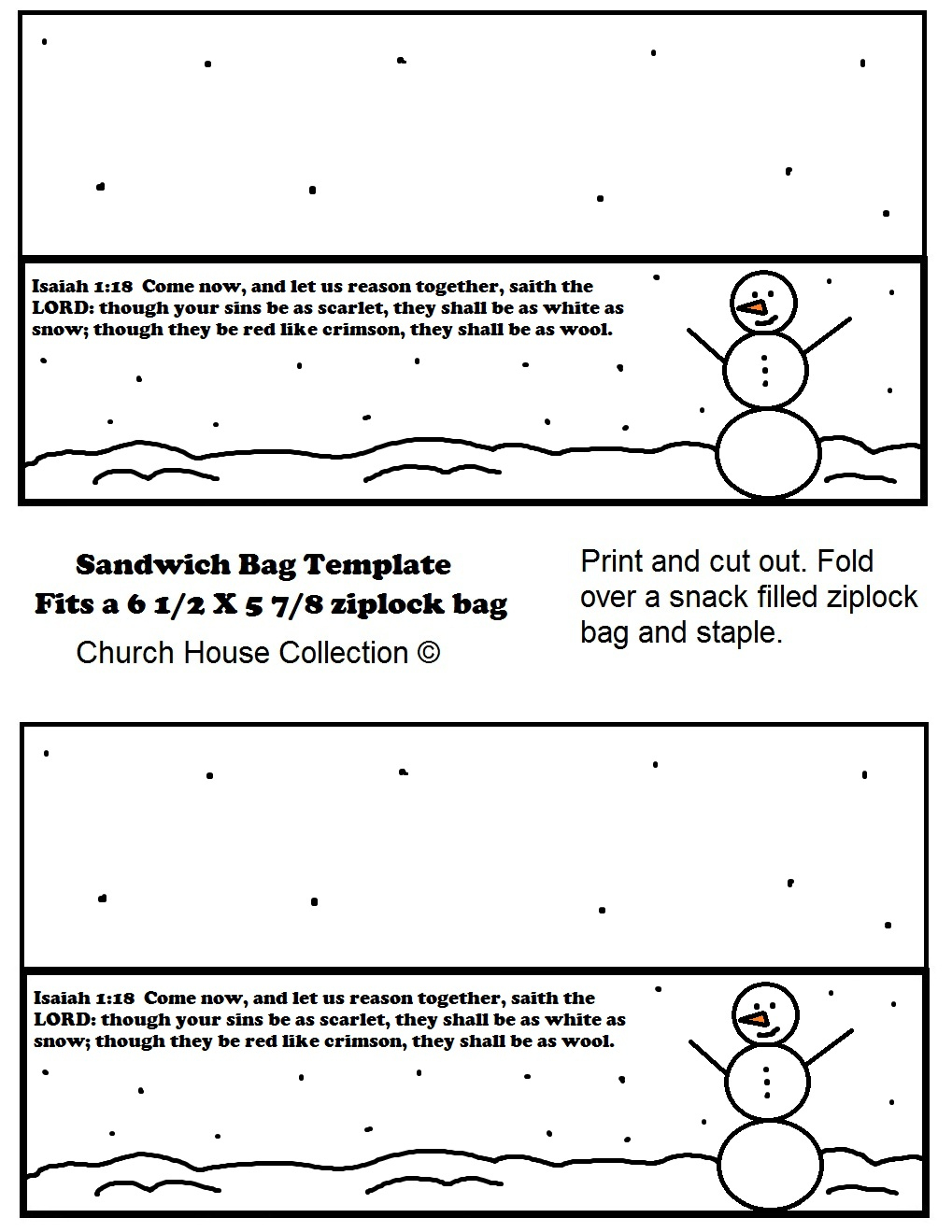 Snowman Sunday School Lesson - Free Printable Sunday School Lessons For Kids