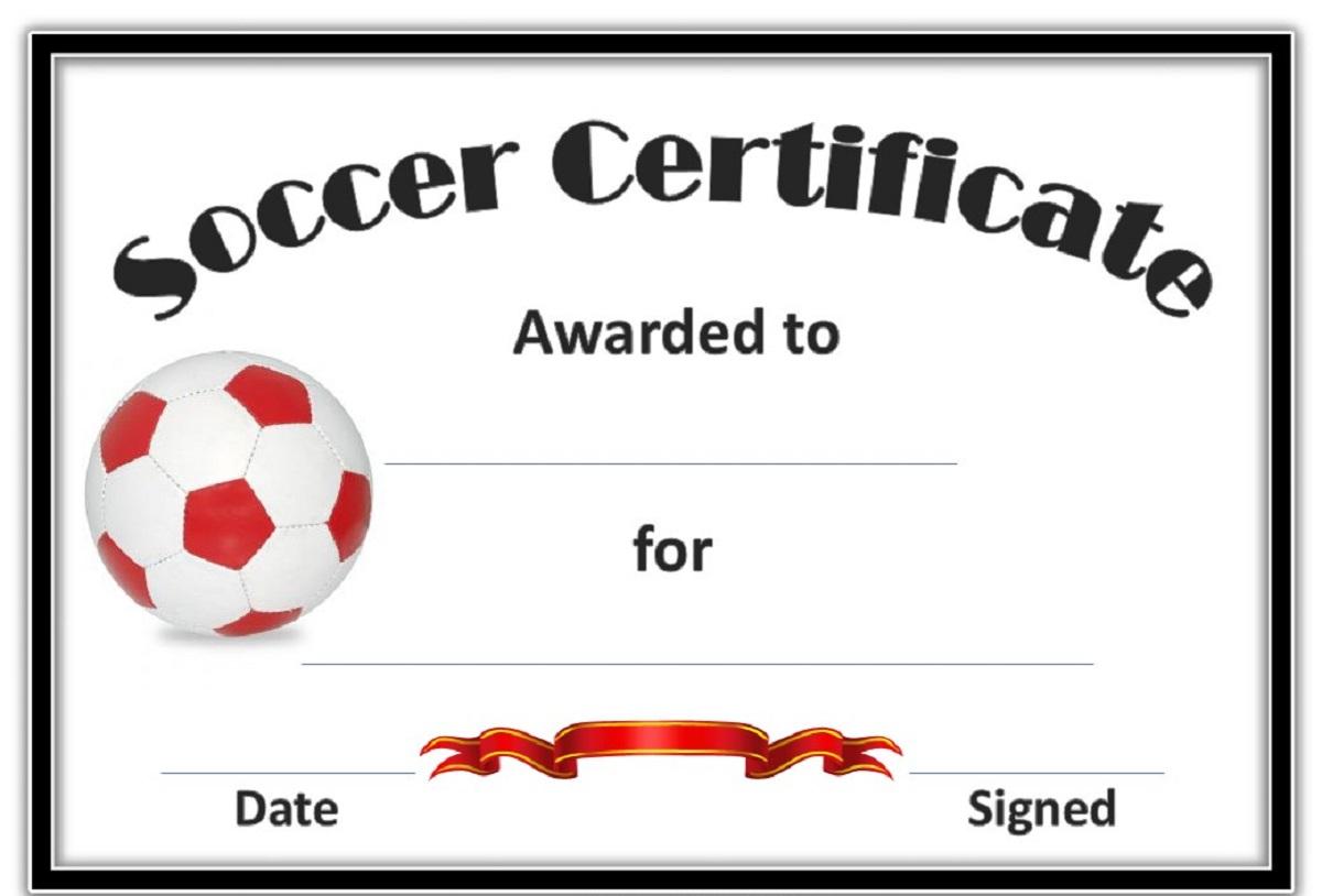 Soccer Award Certificate Templates Free Certificates Template Kiddo - Free Soccer Award Certificates Printable