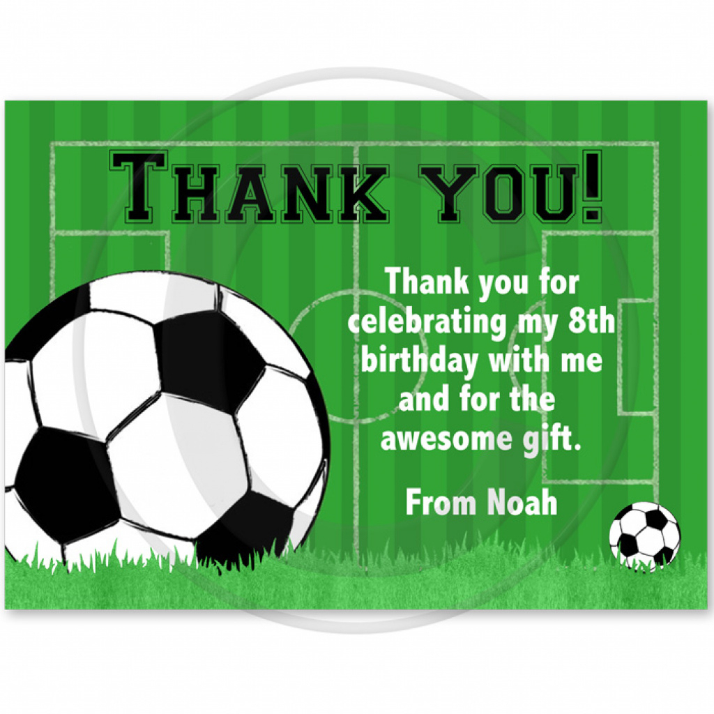 Soccer Birthday Party Thank You Cards Regarding Free Printable - Free Printable Soccer Thank You Cards