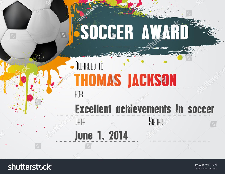 Soccer Certificate Template Free - Condo-Financials - Free Printable Soccer Certificate Templates