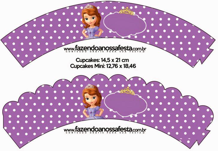 Free Printable Sofia Cupcake Toppers