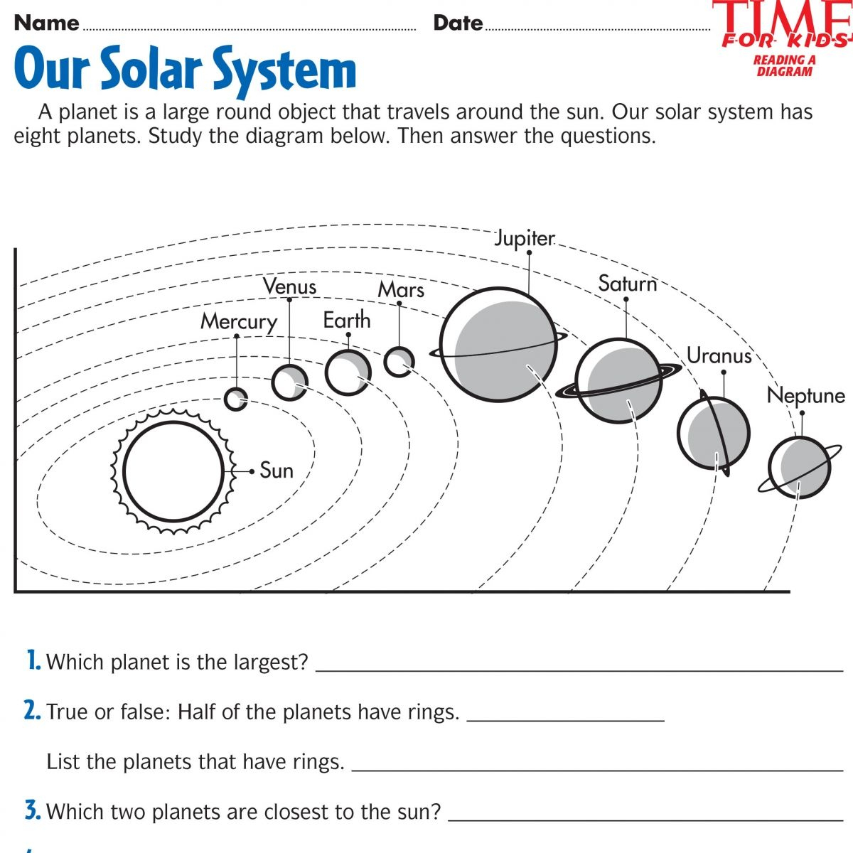 Space Printables | Time For Kids | {Third Grade} | Space Printables - Solar System Charts Free Printable