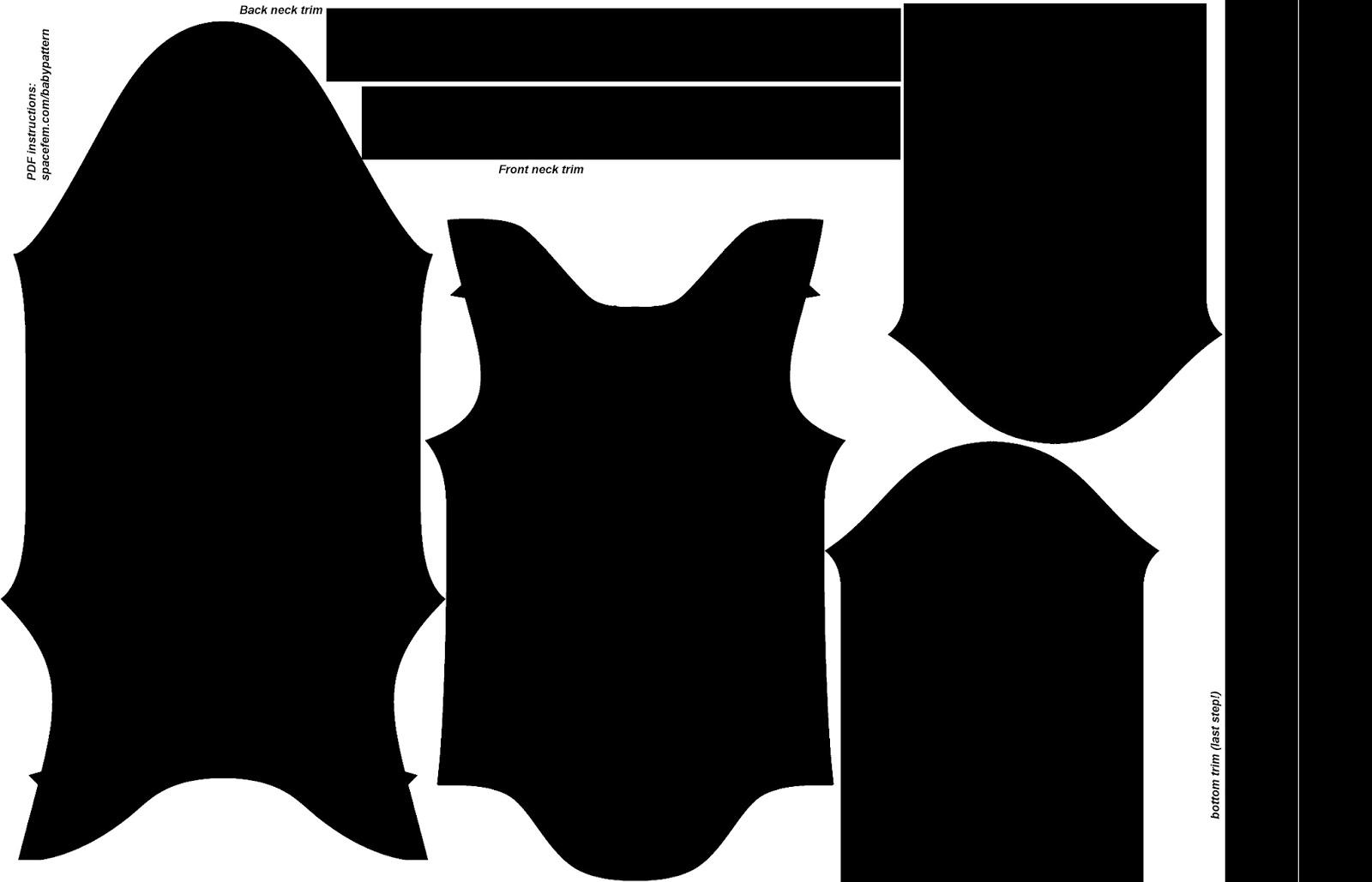 Spacefem: Design Your Own Baby Onesie! - Free Printable Onesie Pattern