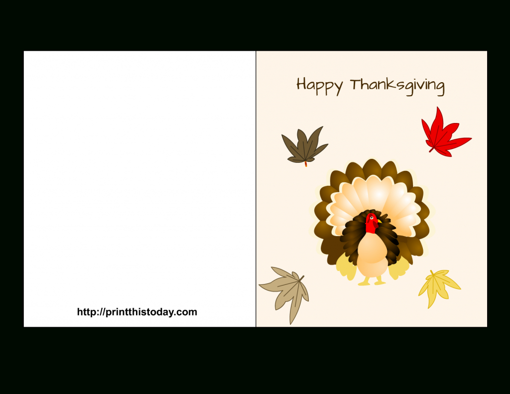 """Special """"happy Thanksgiving Cards"""" Printable For Parents & Friends - Free Printable Thanksgiving Cards"""