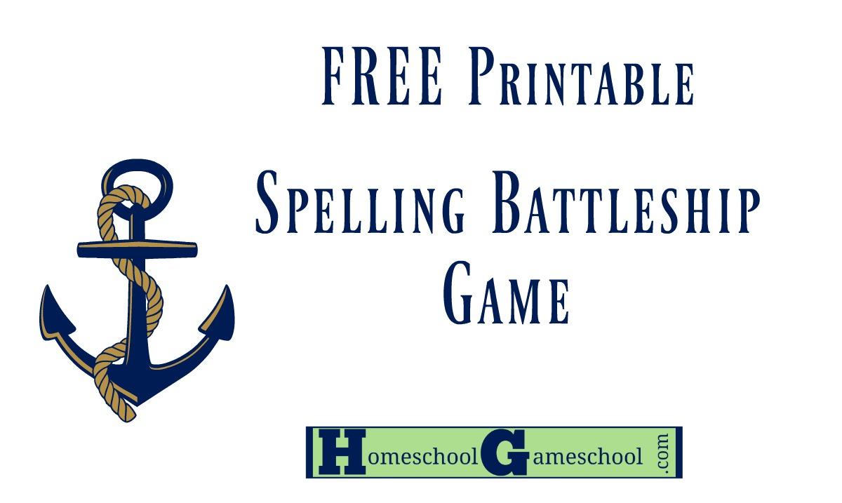Spelling Battleship Free Game Download | Homeschool Gameschool - Free Printable Battleship Game