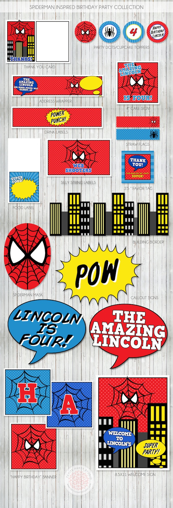 Spider Man Party Printable - 9.8.kaartenstemp.nl • - Free Printable Spiderman Pictures