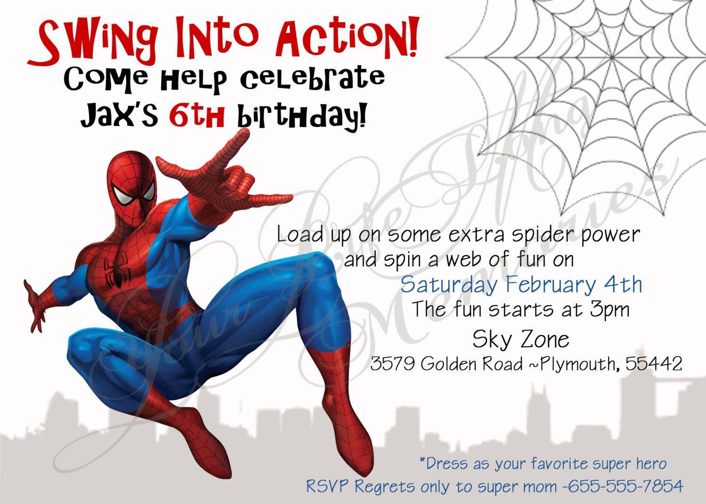 Spiderman Birthday Invitations Free Printable   Anniv Spiderman - Free Printable Spiderman Pictures
