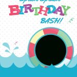 Splish Splash   Free Printable Summer Party Invitation Template   Free Printable Pool Party Invitations