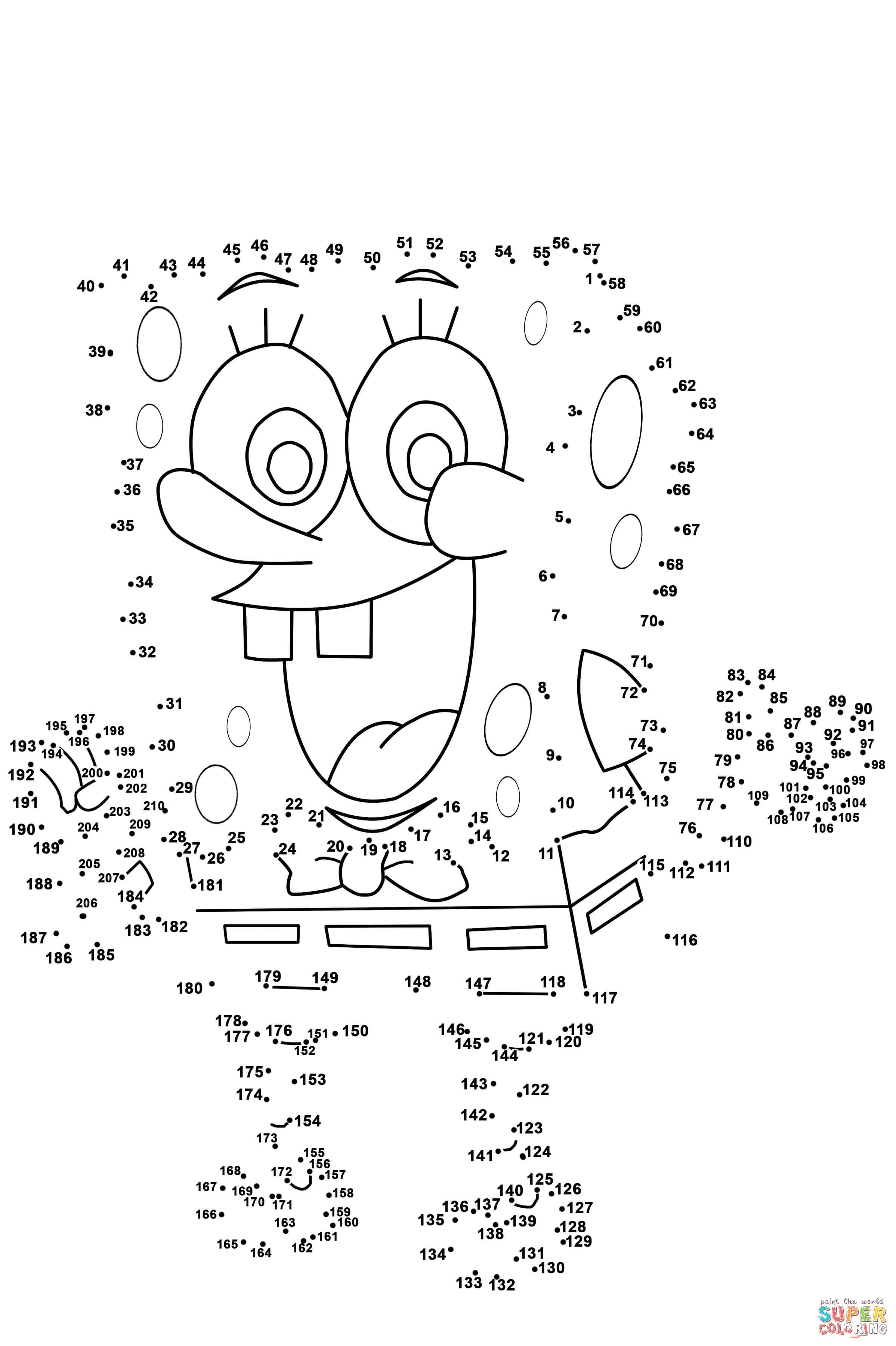 Spongebob Dot To Dot | Free Printable Coloring Pages - Free Printable Dot To Dot Hard