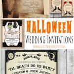 Spooktacular Halloween Wedding Invitations • Glitter 'n Spice   Free Printable Halloween Wedding Invitations