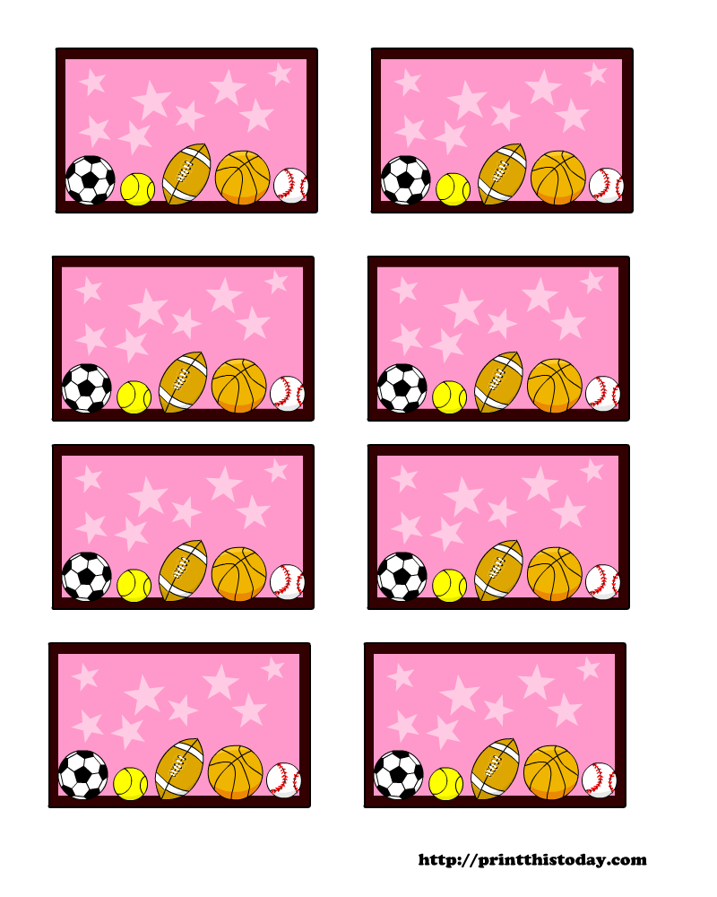 Sports Themed Baby Shower Labels (Templates) - Free Printable Baby Shower Label Templates